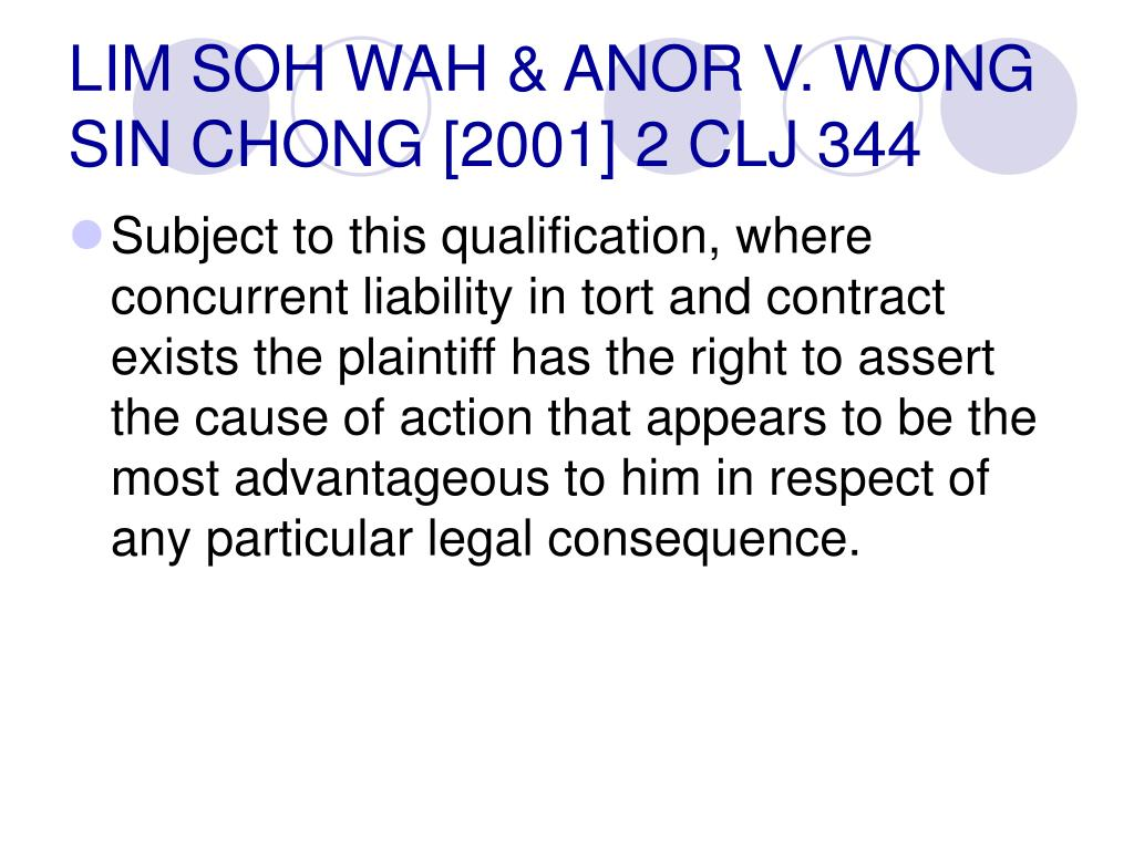 LIM SOH WAH & ANOR V. WONG SIN CHONG [2001] 2 CLJ 344