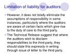 limitation of liability for auditors97