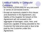 limits of liability in computer contracts94