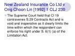 new zealand insurance co ltd v ong choon lin 1992 1 clj 230
