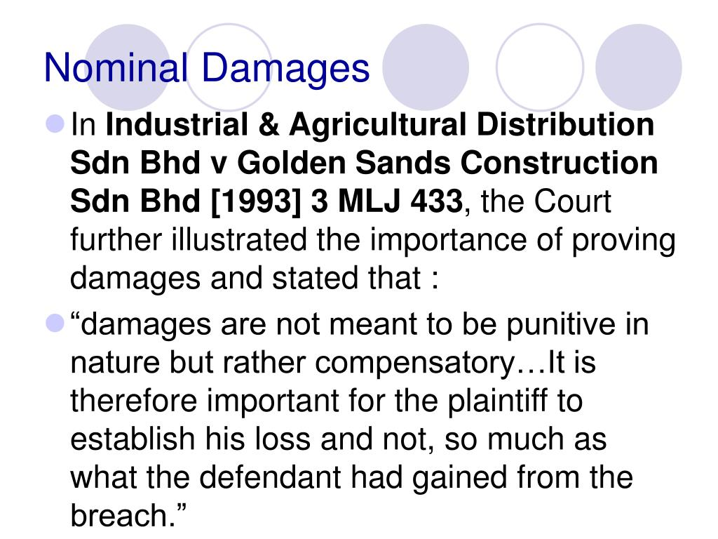 Nominal Damages