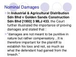 nominal damages17