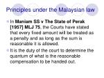 principles under the malaysian law38