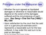 principles under the malaysian law39