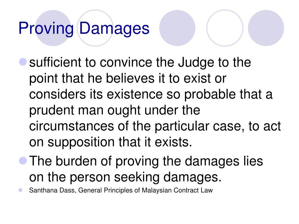 Proving Damages