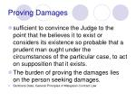 proving damages41