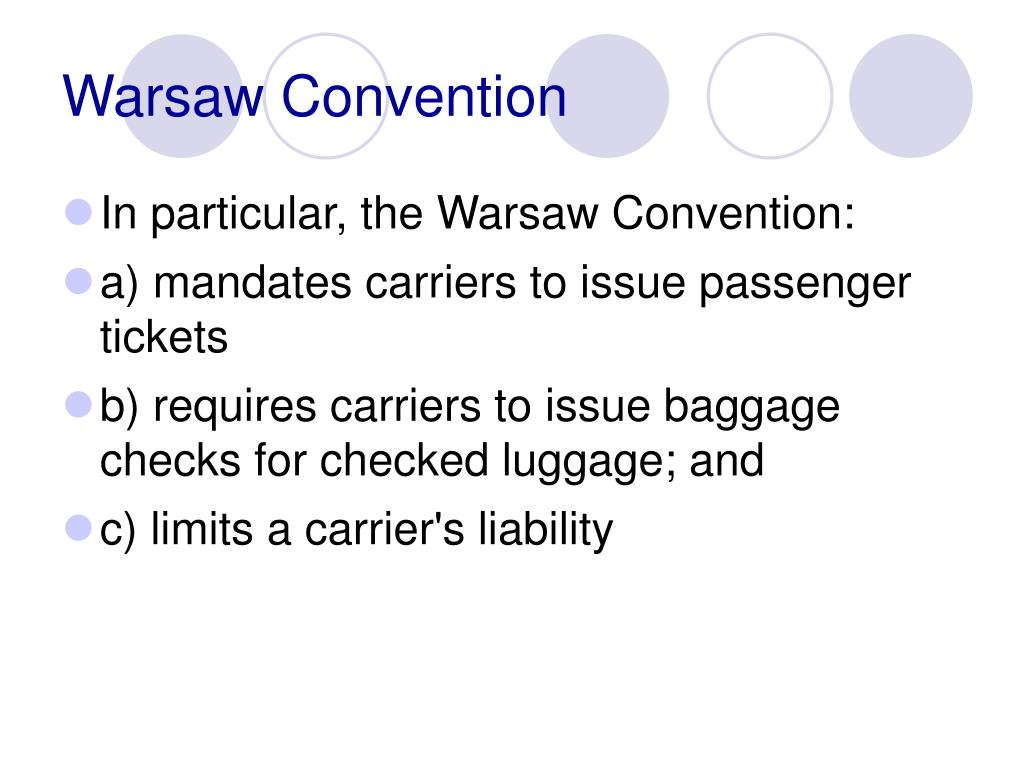 Warsaw Convention