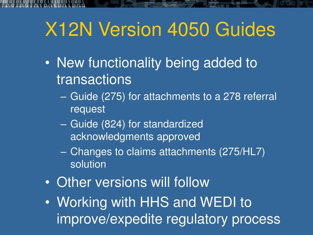 X12N Version 4050 Guides