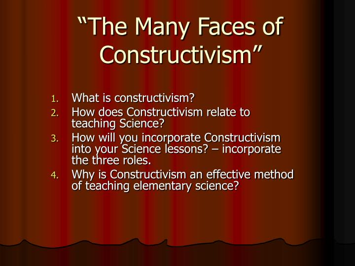 the many faces of constructivism n.