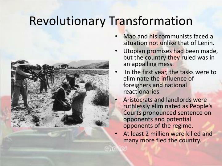 account of the transformation of china under mao zedong Economic development and social revolution in the people's republic of china during the era of mao zedong's rule in china transformation underway in china.