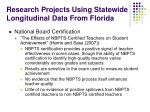 research projects using statewide longitudinal data from florida9