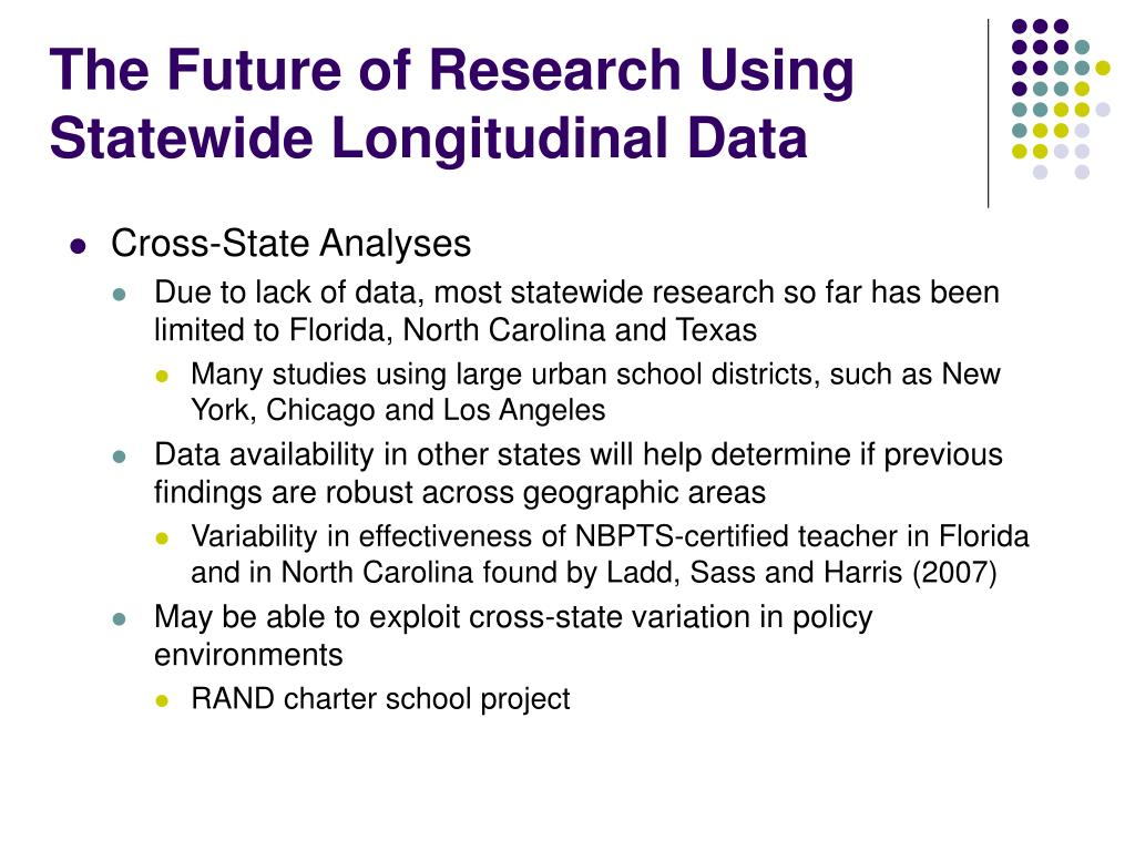 The Future of Research Using Statewide Longitudinal Data