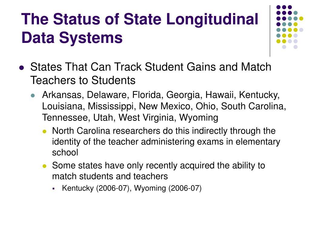 The Status of State Longitudinal Data Systems