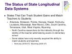 the status of state longitudinal data systems4