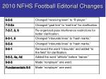 2010 nfhs football editorial changes4