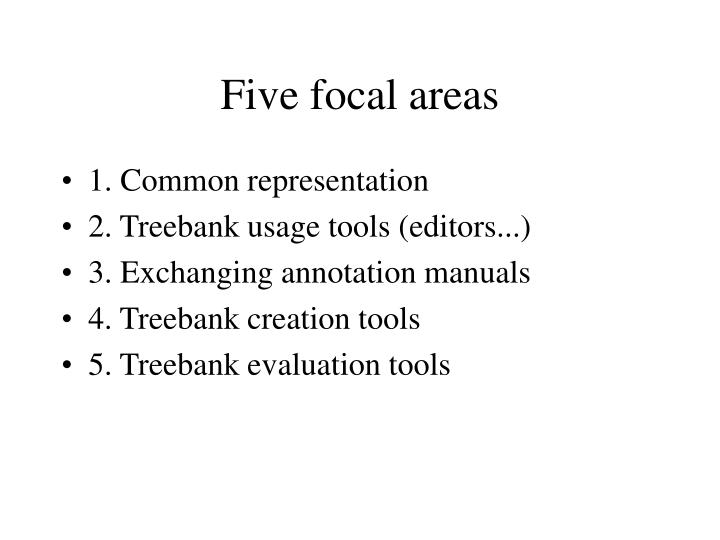 Five focal areas