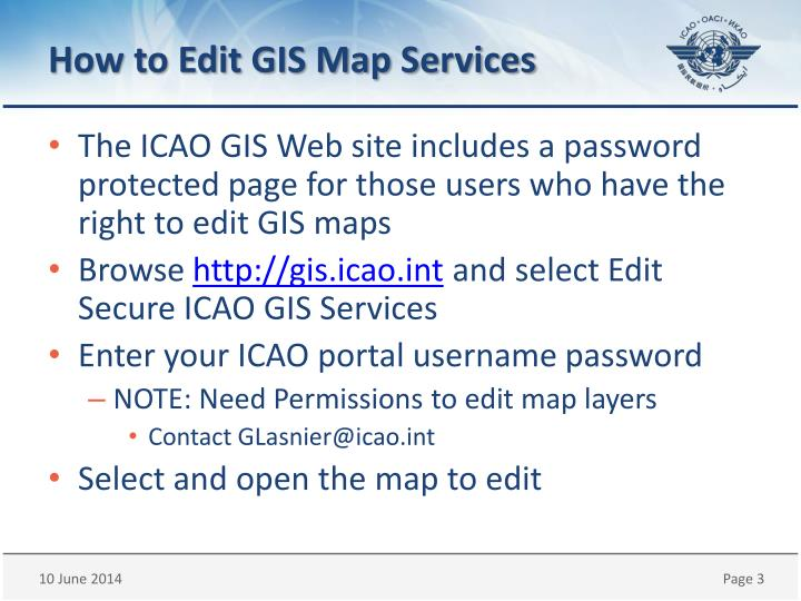 How to edit gis map services