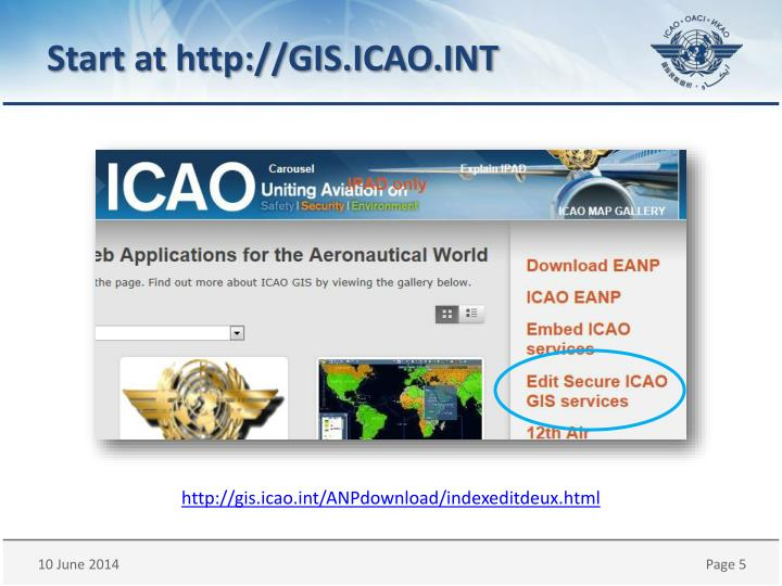 Start at http://GIS.ICAO.INT