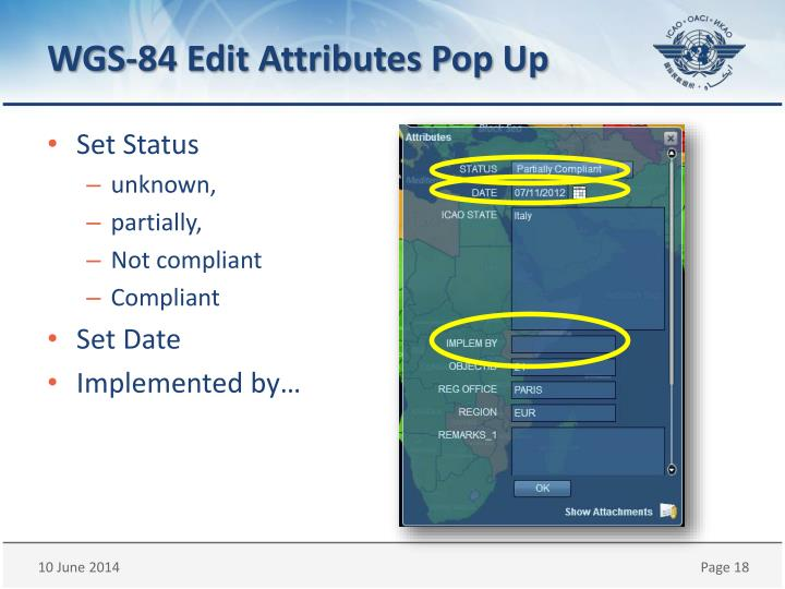 WGS-84 Edit Attributes Pop Up