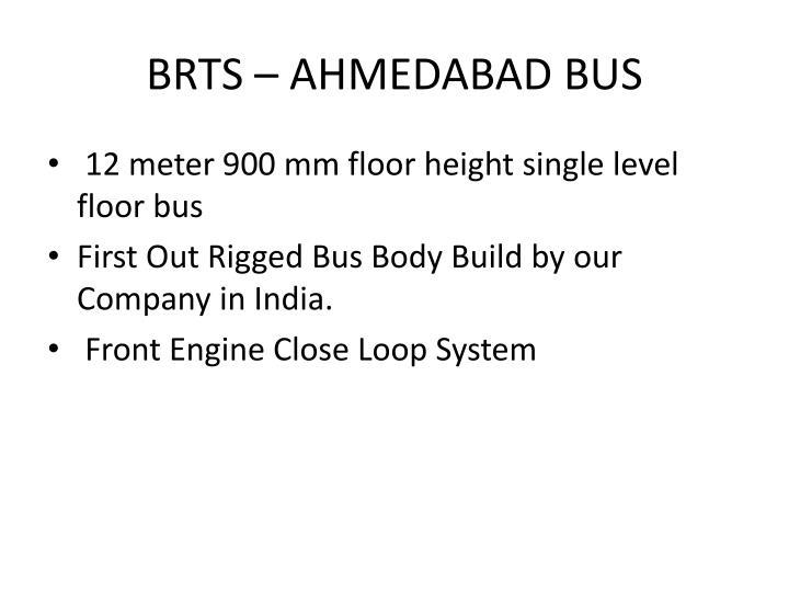 BRTS – AHMEDABAD BUS
