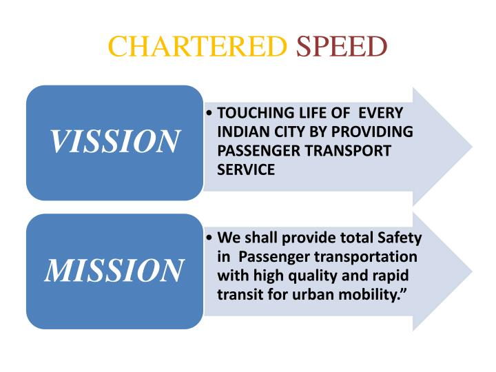 Chartered speed