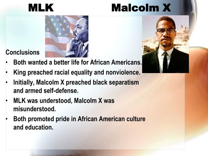 MLK Malcolm X