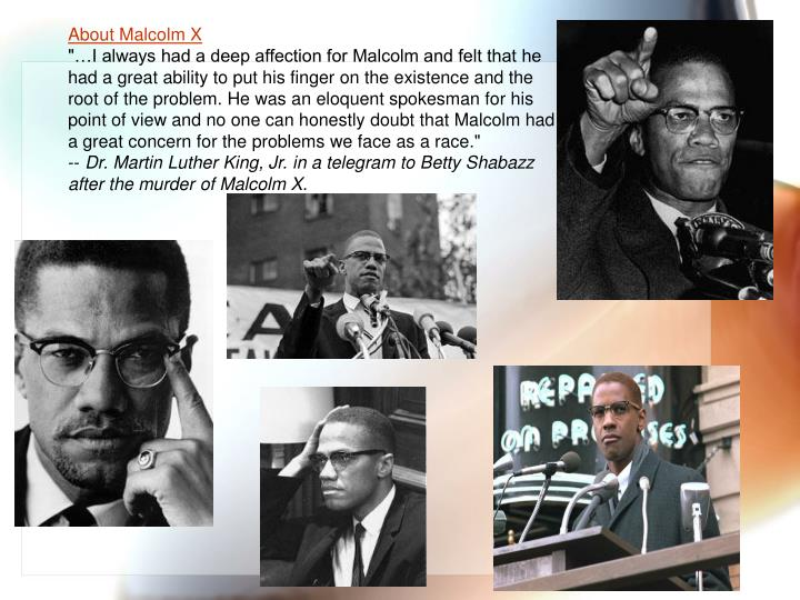 About Malcolm X