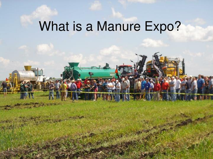 what is a manure expo n.