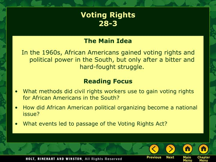 voting rights 28 3 n.