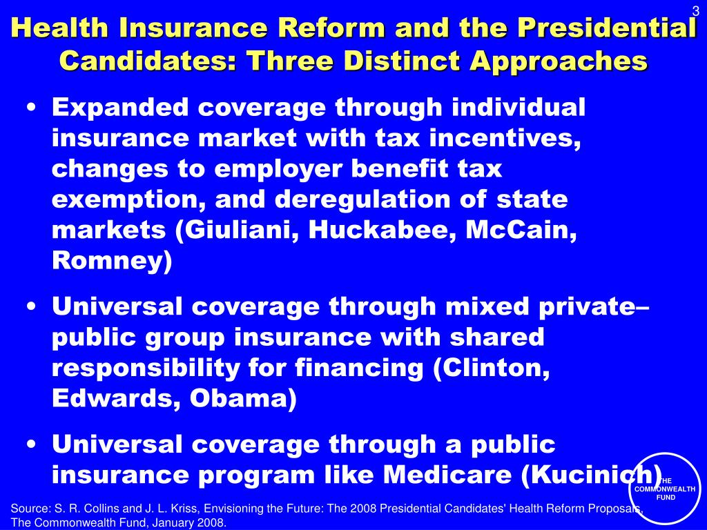 Health Insurance Reform and the Presidential Candidates: Three Distinct Approaches