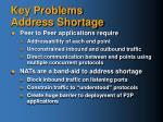 key problems address shortage1