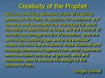 creativity of the prophet