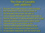 the chain of causality with additions