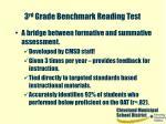 3 rd grade benchmark reading test16