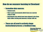 how do we measure learning in cleveland6