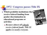 1972 congress passes title ix