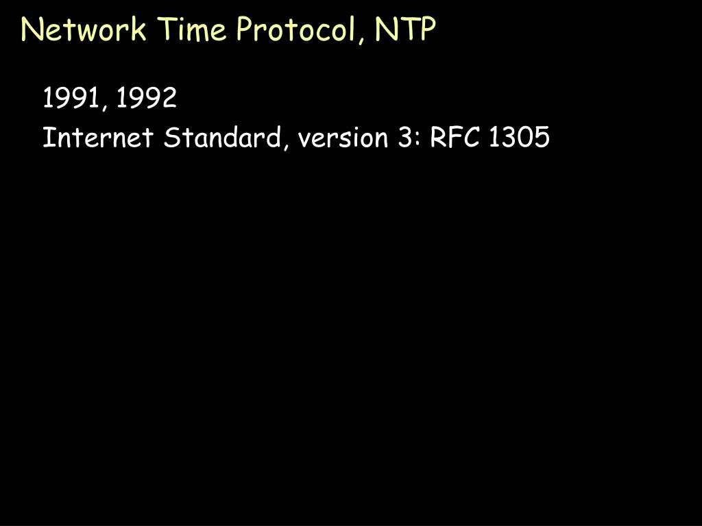 Network Time Protocol, NTP