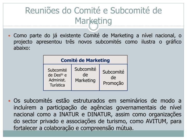 Reuniões do Comité e Subcomité de Marketing