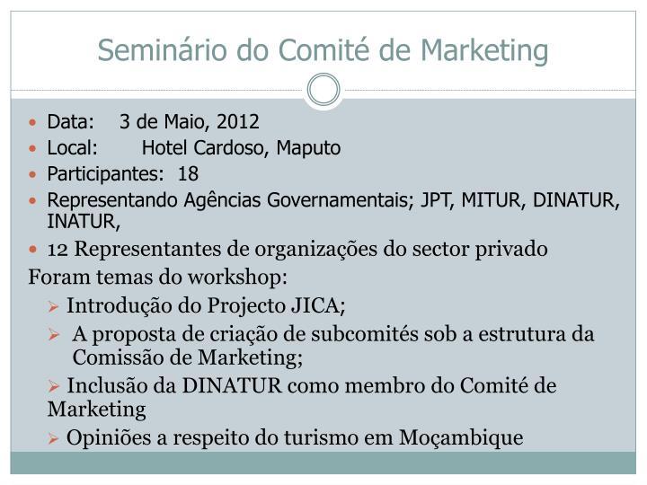 Seminário do Comité de Marketing