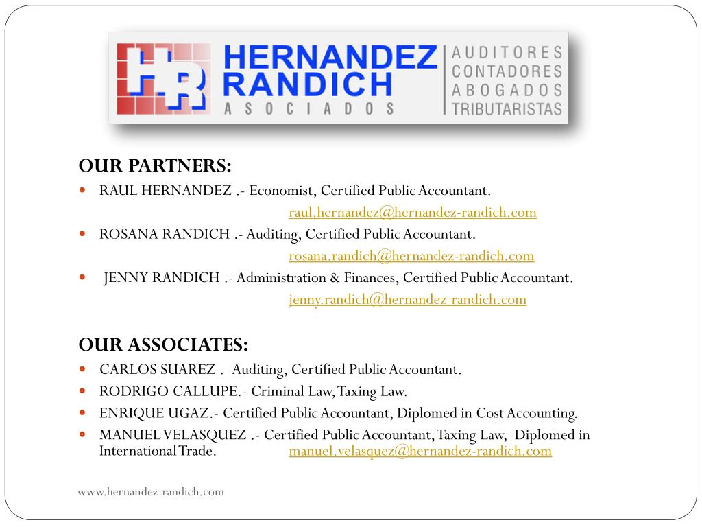 OUR PARTNERS: