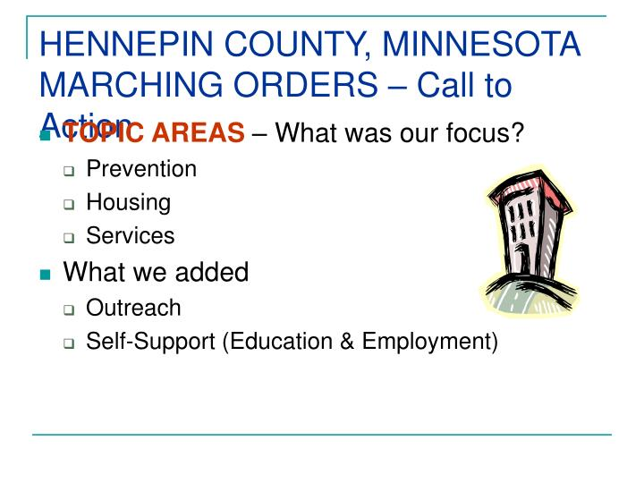 Hennepin county minnesota marching orders call to action