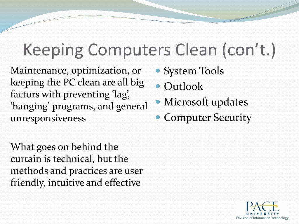 Keeping Computers Clean (