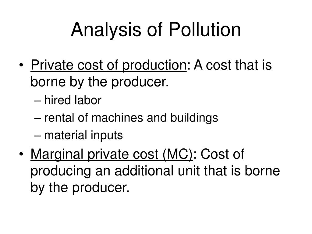 Analysis of Pollution