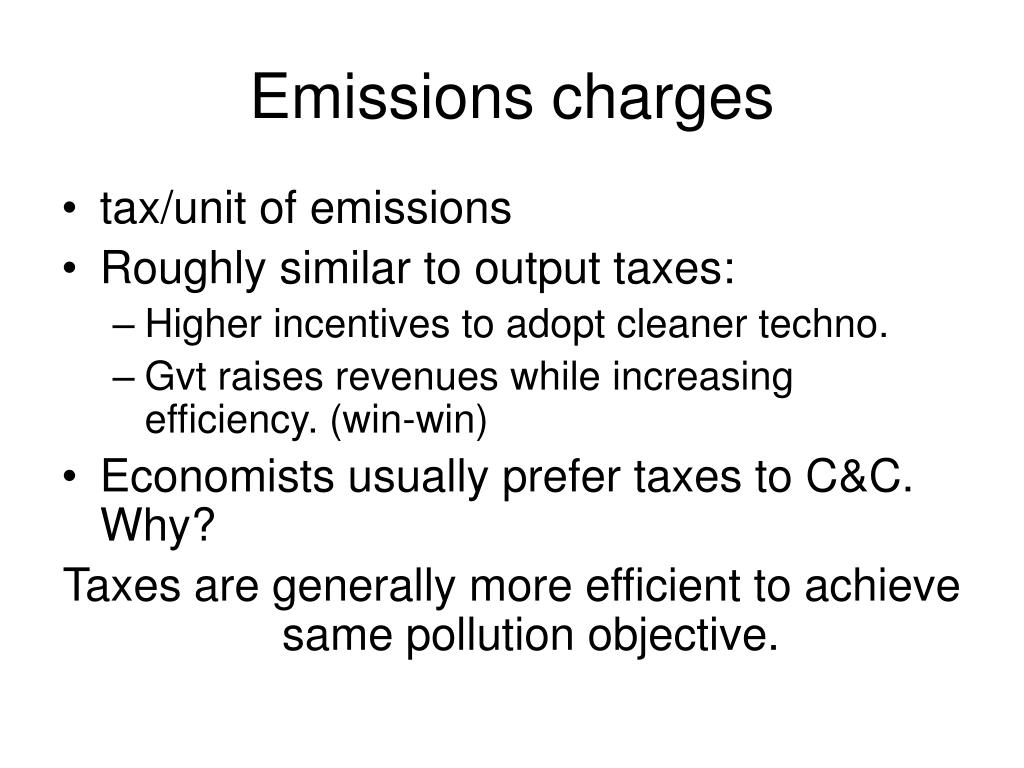 Emissions charges