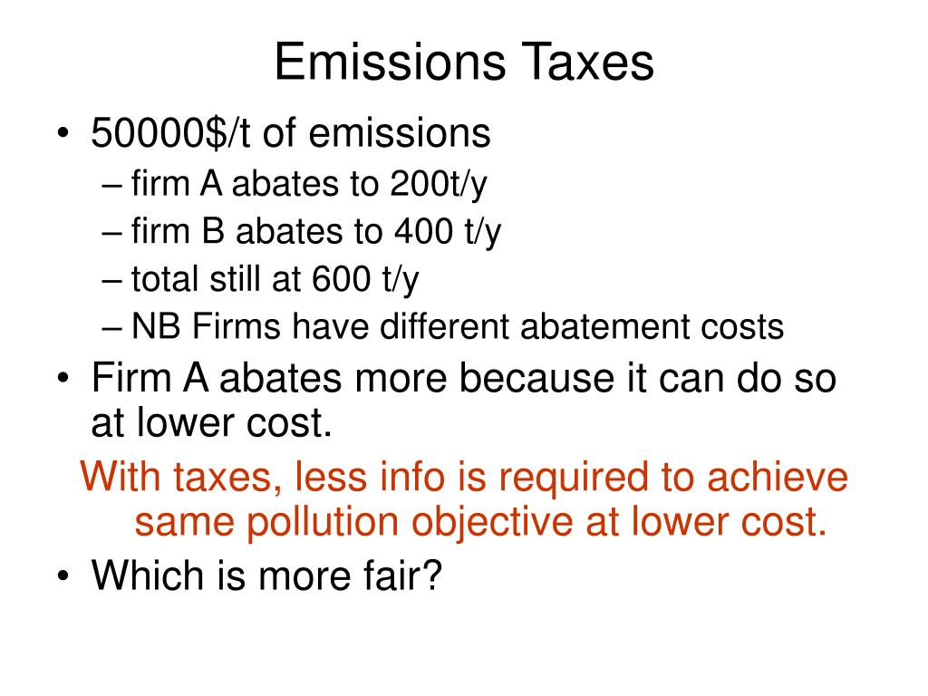 Emissions Taxes