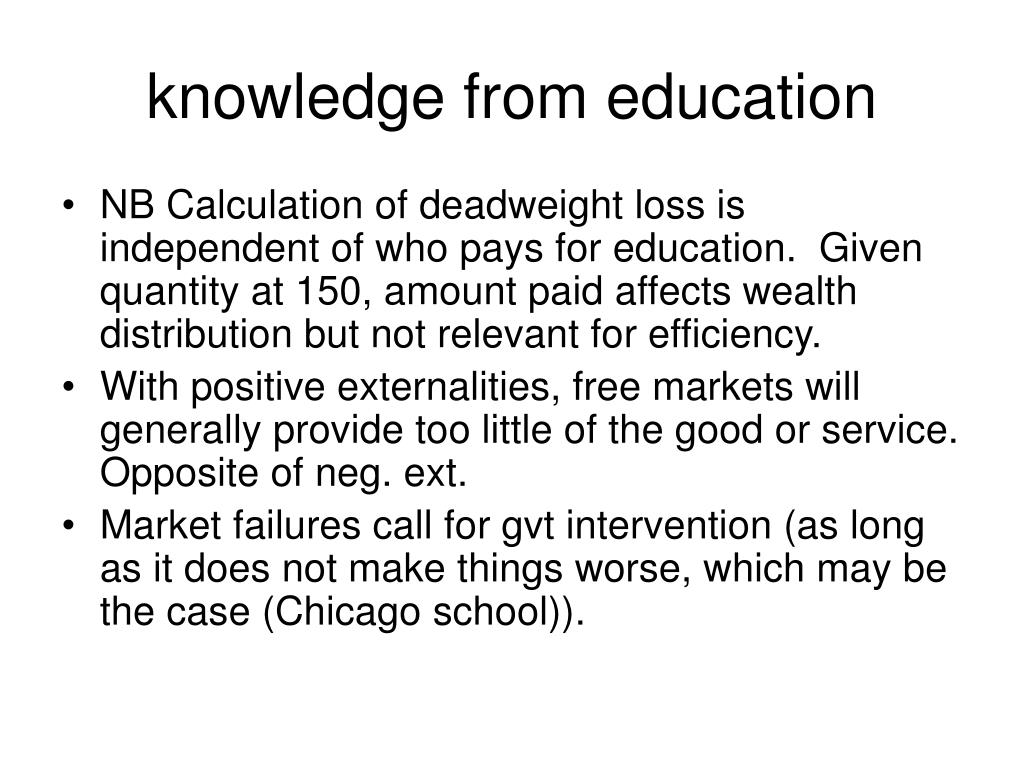 knowledge from education