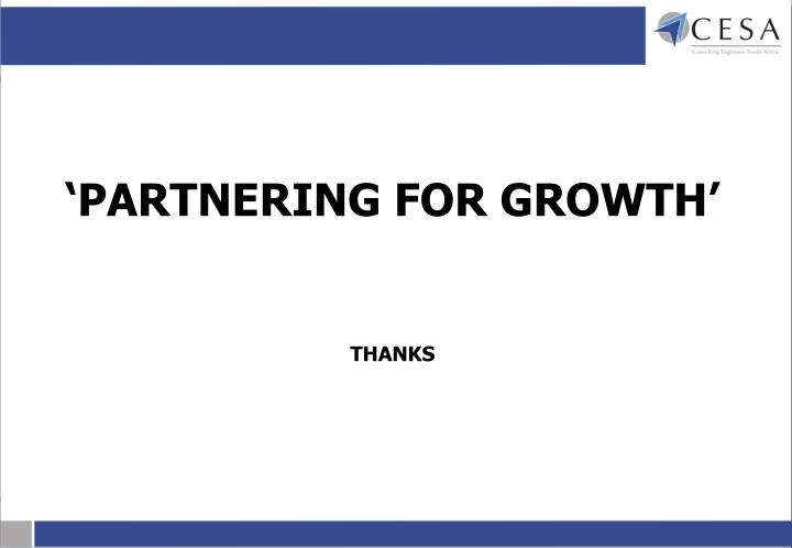 'PARTNERING FOR GROWTH'