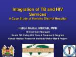 integration of tb and hiv services a case study of kericho district hospital