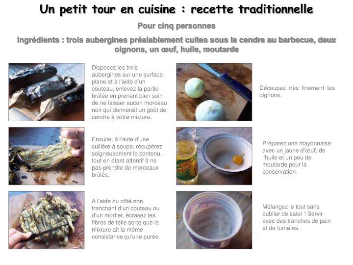 Un petit tour en cuisine : recette traditionnelle