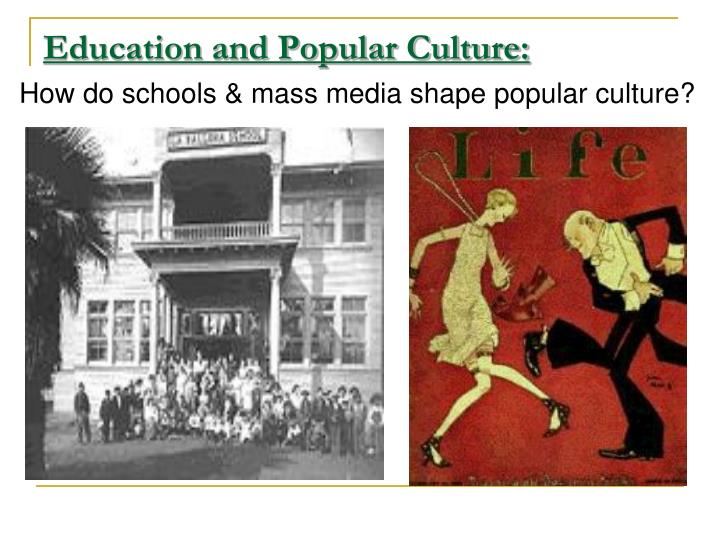 education and popular culture n.